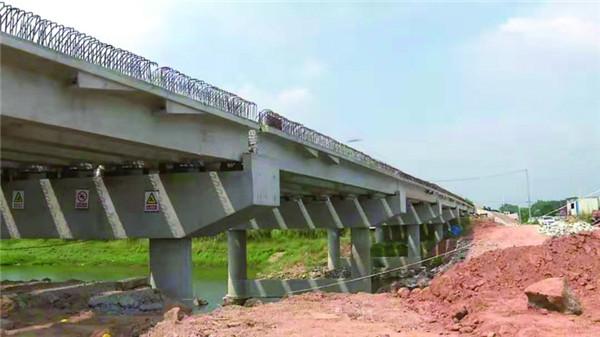 周红畈大桥主体工程完工