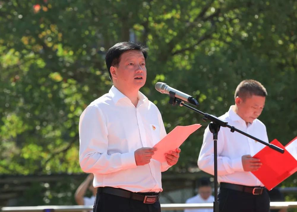 云和县举行致敬祖国升旗仪式