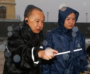 周国岭察看台风期间汛情