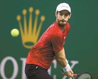 上海网球大师赛:穆雷逆转晋级