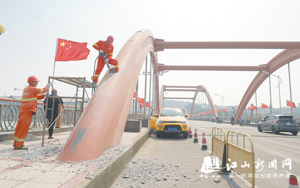 彩虹桥加固维修