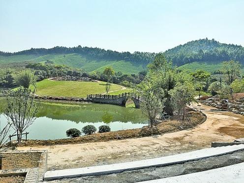 递铺街道长乐社区营盘山体育公园年底投入使用