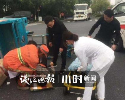 給你們點贊!杭州錢塘新區多位市政工人救助受傷老人