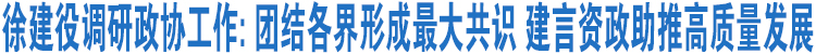 徐建役调研政协工作