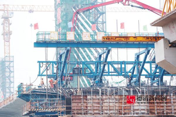 东苕溪大桥高质量快推进