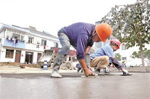 硬化道路 提升村貌