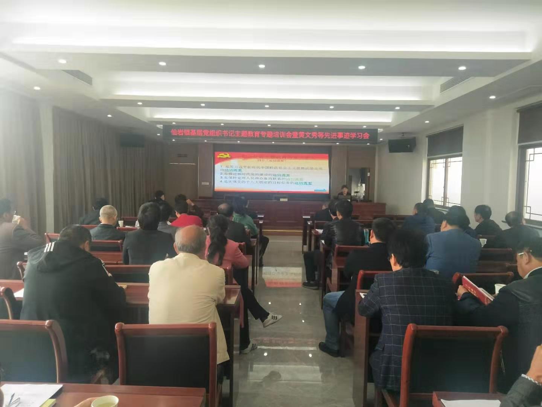 仙岩镇举行基层党组织书记主题教育专题培训