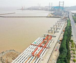 新江南大桥建设稳步推进