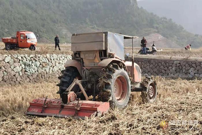 千亩麦田开始机械播种小麦