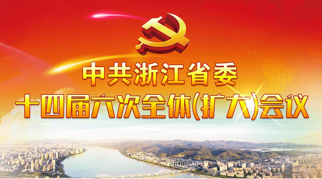 中共浙江省委十四届六次全会