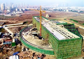 前江社区中心结构封顶
