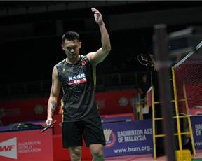马来西亚羽毛球大师赛 林丹首轮出局