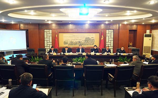 梅式苗主持召开市委书记专题会议