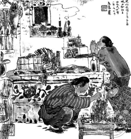 越乡民俗――小年,有祭祀灶神习俗