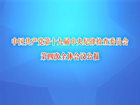 中國共產黨第十九屆中央紀律檢查委員會第四次全體會議公報
