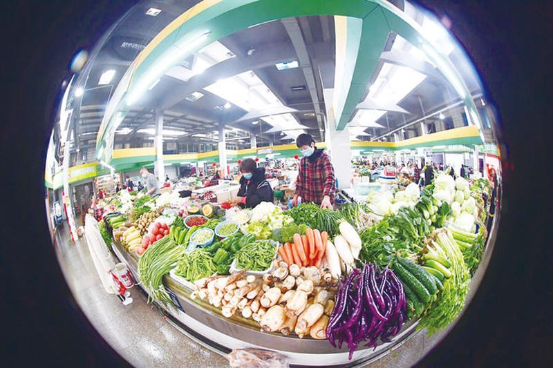 云和县农贸市场一角