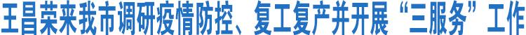 王昌荣来嵊调研疫情防控和复工复产工作