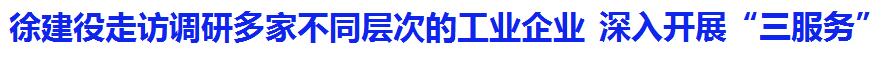 """徐建役走访调研多家不同层次的工业企业,深入开展""""三服务"""""""
