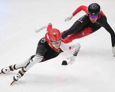 短道速滑模拟世锦赛范可新加冕四冠王