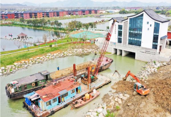 浙江省现代水利示范区水情教育园抓紧施工