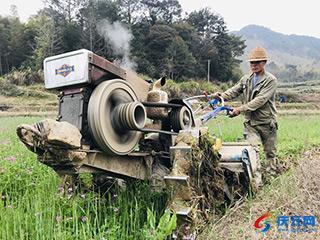 农用机械穿梭田间地头
