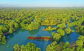 西溪国家湿地公园里的清风廉韵