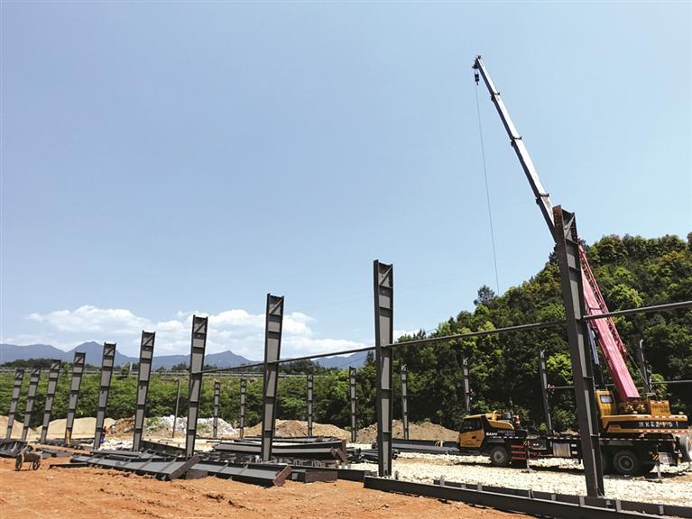 小微企业园B区块竹胶板生产线项目预计在11月进行厂房和配套设施验收工作