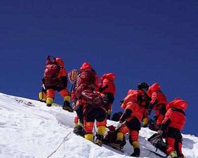 中国登山协会电贺珠峰高程测量登山队
