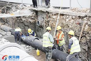 聚焦项目建设——地下综合管网工程施工忙