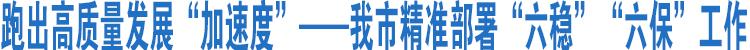 """新万博app,万博体育官网精准部署""""六稳""""""""六保""""工作"""