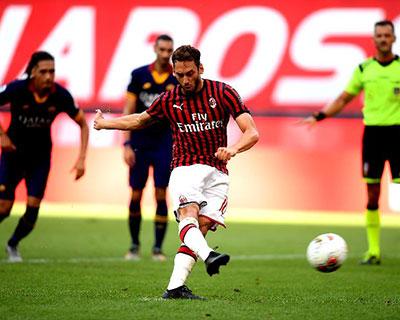 意甲:AC米兰完胜罗马 国米逆转帕尔马