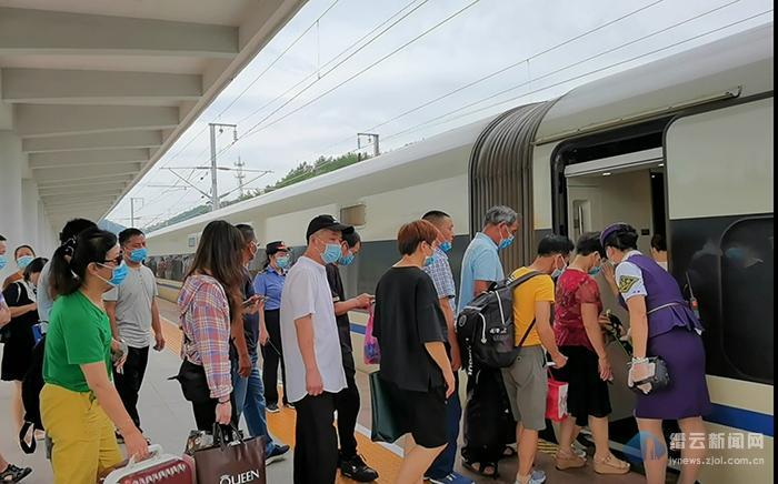 """铁路""""7.1""""调图 缙云西增开安吉等地高铁列车"""