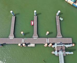 风情渔村凉峙建成游艇码头