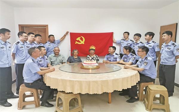 """尤溪派出所开展庆""""七一""""主题党日活动"""