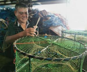 """我县一渔民团队研发蟹笼""""脱钩器"""" 获专利并投用"""
