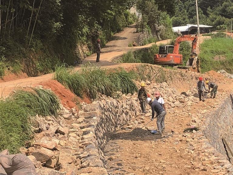 吴公至署网连网公路工程现场预计11月份完工