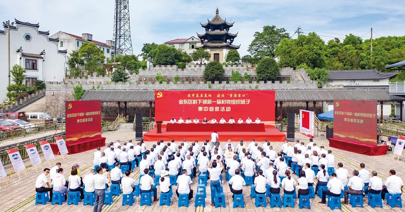 新一届村党组织 成员集中宣誓