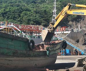 """秀山乡对小型""""三无""""船艇进行集中拆解"""