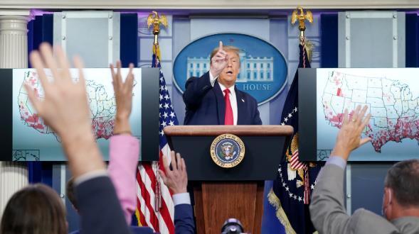 特朗普称可能在白宫发表提名演说