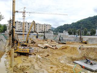 黄麻淤安置房工程项目建设地下室基础设施