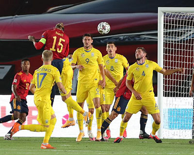 欧国联:西班牙大胜乌克兰 瑞士逼平德国