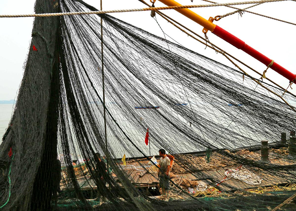 开渔在即 玉环渔民准备忙