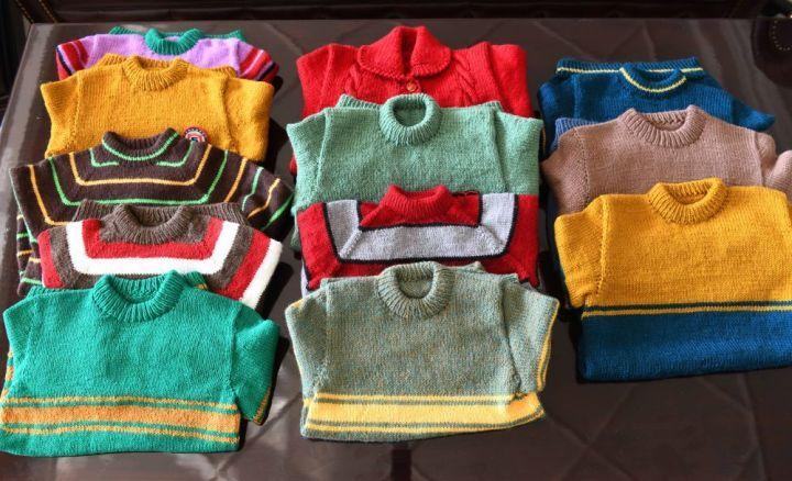"""宁波""""毛衣奶奶""""定下小目标 一年织50件毛衣"""