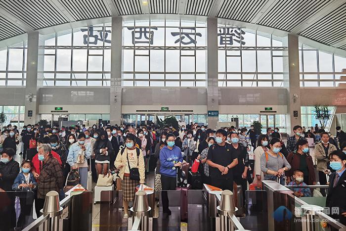 缙云西站|创疫情以来单日发送旅客最高记录