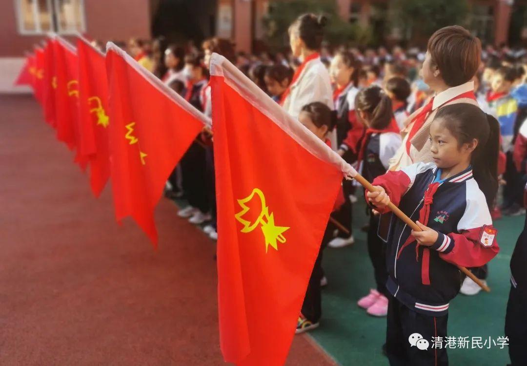清港新民小学举行少先队入队仪式暨民族团结进步示范学校创建动员大会