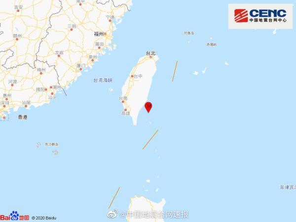 台湾台东县海域发生4.7级地震,震源深度17千米
