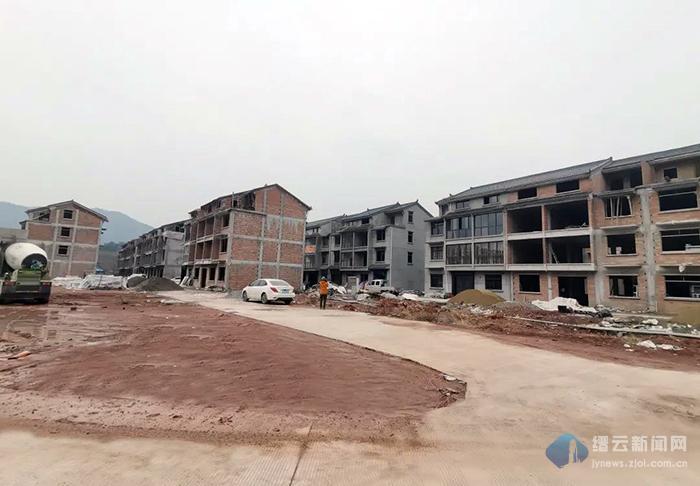 缙云抽蓄电站项目小仙都移民安置点自建房主体工程提前半年完工