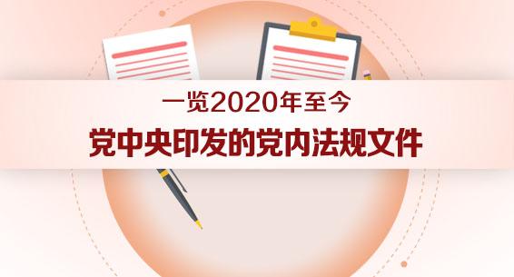 一览2020年至今党中央印发的党内法规文件