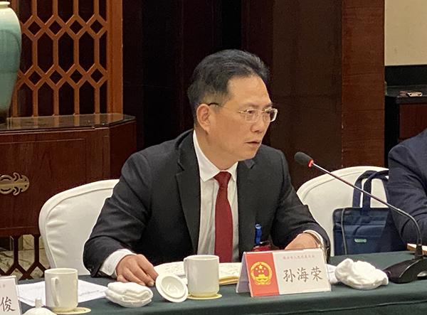 孙海荣参加人大第三代表团审议