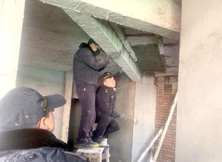 县综合行政执法局依法拆除一处违法建筑